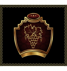 Gold label for packing wine vector