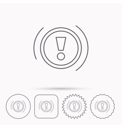 Warning icon dashboard sign vector