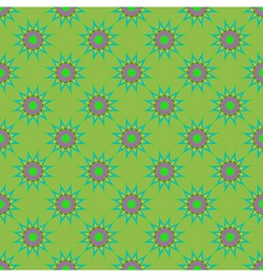 Abstract seamless pattern with fractal star on vector