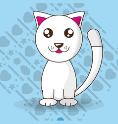 adorable little cat with cute face vector image vector image