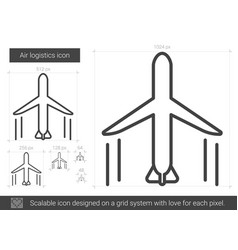 air logistic line icon vector image