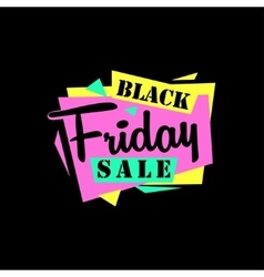 Black friday sale sticker or banner special offer vector