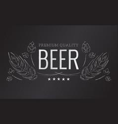 Chalk beer emblem vector