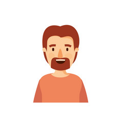 Colorful caricature half body man with moustache vector