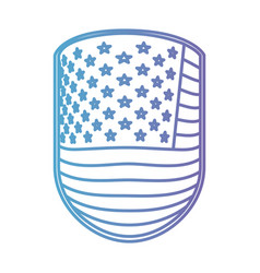 emblem with flag united states of america in color vector image vector image