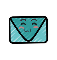 envelope cartoon smiley vector image