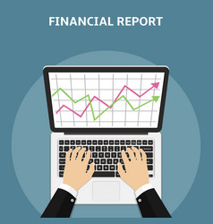 financial report concept flat style vector image