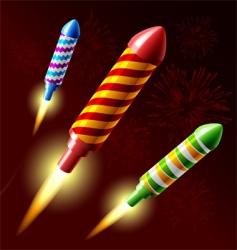 fireworks rocket vector image