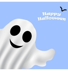 Ghost halloween party in a white sheet vector