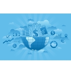 Global Markets blue vector image vector image