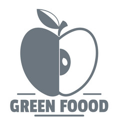 Green food logo vintage style vector