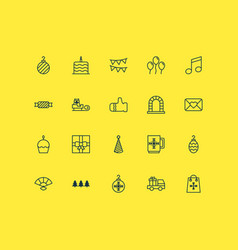 New icons set collection of crotchets christmas vector
