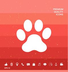 Paw symbol icon vector