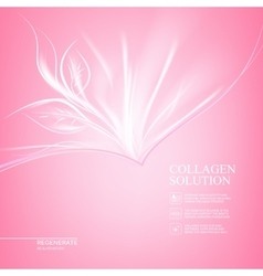 Pink background with scin care design vector