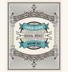 Retro whiskey label layered vector