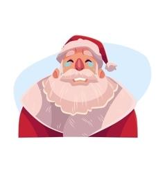 Santa claus face crying facial expression vector