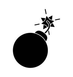 Silhouette security system concept bomb icon vector