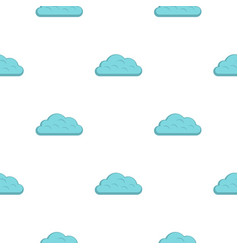 Snow cloud pattern flat vector