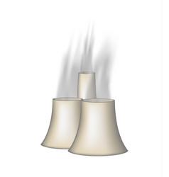 Three chimneys with smoke vector