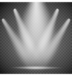 transparent spotlights vector image vector image
