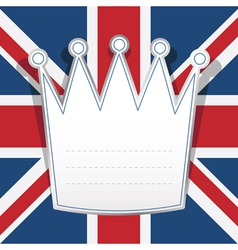 uk note paper vector image