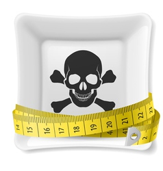 Unhealthy dieting vector image