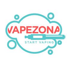 Vapezone start vaping logo isolated on white vape vector