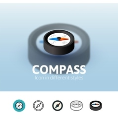 Compass icon in different style vector