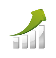 arrow up increase vector image