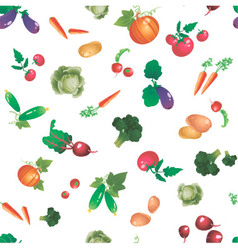 Vegetables and roots pattern vector