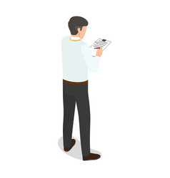 office worker makes notes isolated vector image