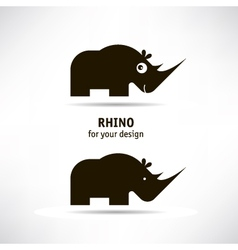 Rhino icon vector