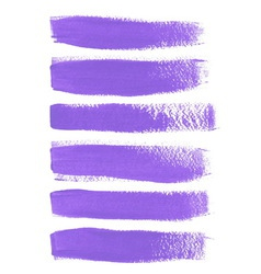 Lilac ink brush strokes vector