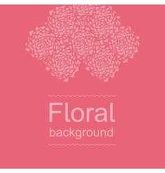 Amaranth floral background - broken peonies vector