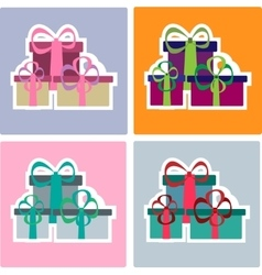 Colorful christmas gifts set vector