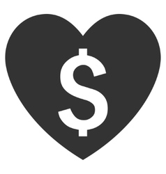 Paid love flat icon vector