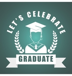 Graduation icon design vector
