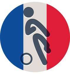Football icon on french flag vector