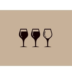 Background with tree wine glass vector
