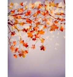 Abstract autumn tree background eps 10 vector