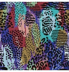 Abstract seamless pattern with animal print vector