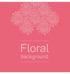 Amaranth floral background - broken peonies vector