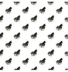 black grand piano pattern vector image