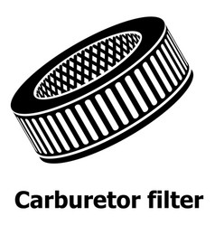 Car air filters icon simple black style vector