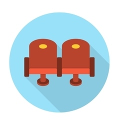 Cinema chair flat icon vector image