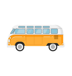 Classic retro bus isolated vector