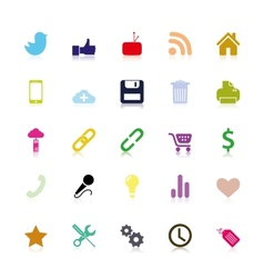 Colored social Icons vector image