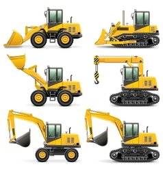 Construction machines set 3 vector