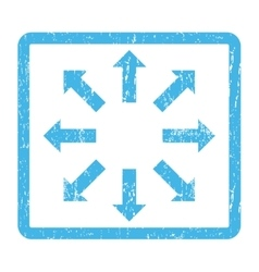 Explode Arrows Icon Rubber Stamp vector image