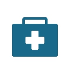 First aid kit suitcase emergency clinic vector